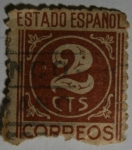Stamps Europe - Spain -  Estado Español 2 centimos
