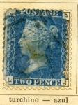 Sellos de Europa - Reino Unido -  Reina Victoria Ed 1858
