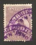 Stamps Australia -  mapa de la isla y canguro