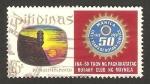 Sellos del Mundo : Asia : Filipinas : 50 anivº de rotary club de manila