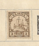 Sellos del Mundo : Oceania : Samoa_Occidental : Barco