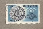 sellos de America - México -  XIX Olimpiadas 1968