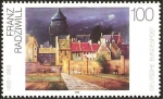 Stamps of the world : Germany :  1606 - pintura alemana del siglo XX, franz radiwill, castillo de agua de bremen