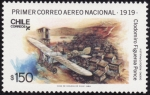 Stamps of the world : Chile :  primer correo aereo-1919