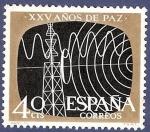 Sellos de Europa - España -  Edifil 1578 XXV años de paz: radio y TV 0,40