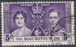 Sellos de Africa - Mauricio -  MAURICIO 1937 (S208) Coronacion 5c