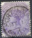 Sellos del Mundo : Africa : Mauricio : MAURICIO 1893 (S68) Reina Victoria 1c