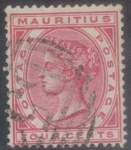 Sellos del Mundo : Africa : Mauricio : MAURICIO 1885 (S72) Reina Victoria 4c