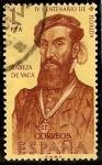 Stamps Europe - Spain -  IV Centenario del descubrimiento de la Florida - Cabeza de Vaca