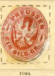Sellos del Mundo : Europa : Alemania : Prusia- Escudo Edicion 1861