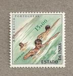 Stamps India -  Natación