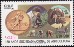 Stamps of the world : Chile :  SOCIEDAD NACIONAL DE AGRICULTURA