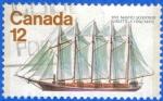 Sellos del Mundo : America : Canadá : CANADA 1977 (S747) 5-masted schooner 12c