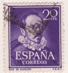 Sellos de Europa - España -  Ruiz de Alarcon