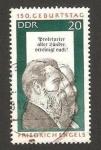 Stamps Germany -  Friedrich Engels, 150 anivº de su nacimiento