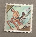 Stamps Asia - East Timor -  Natación