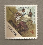Stamps Asia - East Timor -  Caza