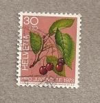 Stamps Switzerland -  Rama de cerezo