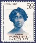 Stamps Spain -  Edifil 1990 Concha Espina 0,50