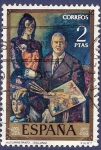 Stamps of the world : Spain :  Edifil 2028 Autorretrato de Solana 2