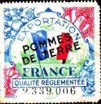 Sellos de Asia - Francia -  sello exportacion pommes de terre