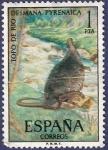 Stamps Spain -  Edifil 2102 Topo de río 1