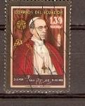 Stamps Ecuador -  S.S.   PÍO   XII
