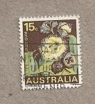 Sellos de Oceania - Australia -  Goma azul