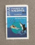 Sellos de Asia - Maldivas -  Pesca deportiva