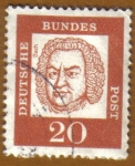 Stamps Europe - Germany -  RETRATOS- Bach