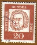 Sellos del Mundo : Europa : Alemania : RETRATOS- Bach