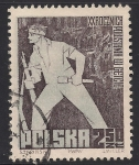 Sellos del Mundo : Europa : Polonia :  Luchador y Ruinas del gueto de Varsovia