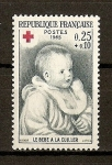 Stamps France -  Cruz Roja