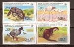 Stamps America - Chile -  ANIMALES  EN  PELIGRO  DE  EXTINCIÓN