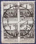Stamps Spain -  Mutualidad postal 1 (cuádruple)