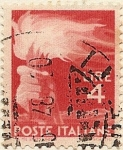 Stamps Italy -  Antorcha olimpica