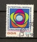 Stamps Germany -  RDA-(DDR) / Noveno Festival de la Juventud