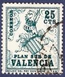 Stamps Spain -  Edifil V01 Plan Sur de Valencia 0,25