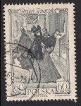 Stamps Poland -  Mujer enviando carta, Varsovia