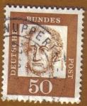 Stamps Germany -  RETRATOS- Goethr