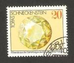 Stamps : Europe : Germany :  mineral topacio de schneckenstein
