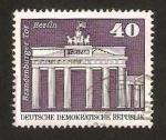 Sellos del Mundo : Europa : Alemania :  puerta de brandebourg en berlin