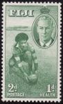 Stamps Oceania - Fiji -  deportista