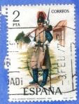 Sellos del Mundo : Europa : España : ESPANA 1977 (E2382) Uniformes militares 2p 15 INTERCAMBIO