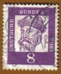 Stamps Germany -  RETRATOS- Gutemberg