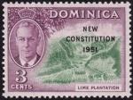 Stamps Dominica -  NUEVA CONSTITUCION 1951