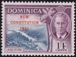 Sellos de America - Dominica -  NUEVA CONSTITUCION 1951