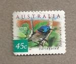 Stamps Australia -  Ave Malurus cyaneus