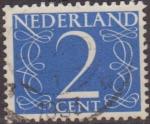 Sellos de Europa - Holanda -  Holanda 1946-57 Scott 283 Sello Serie Numeros usado Netherland