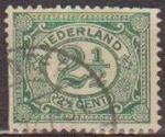 Sellos de Europa - Holanda -  Holanda 1898-1924 Scott 060 Sello Serie Basica Numeros usado Netherland